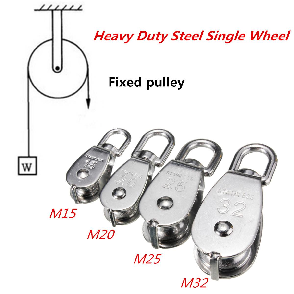 304 Stainless Steel Heavy Duty Pulley Single Wheel Swivel Lifting ...