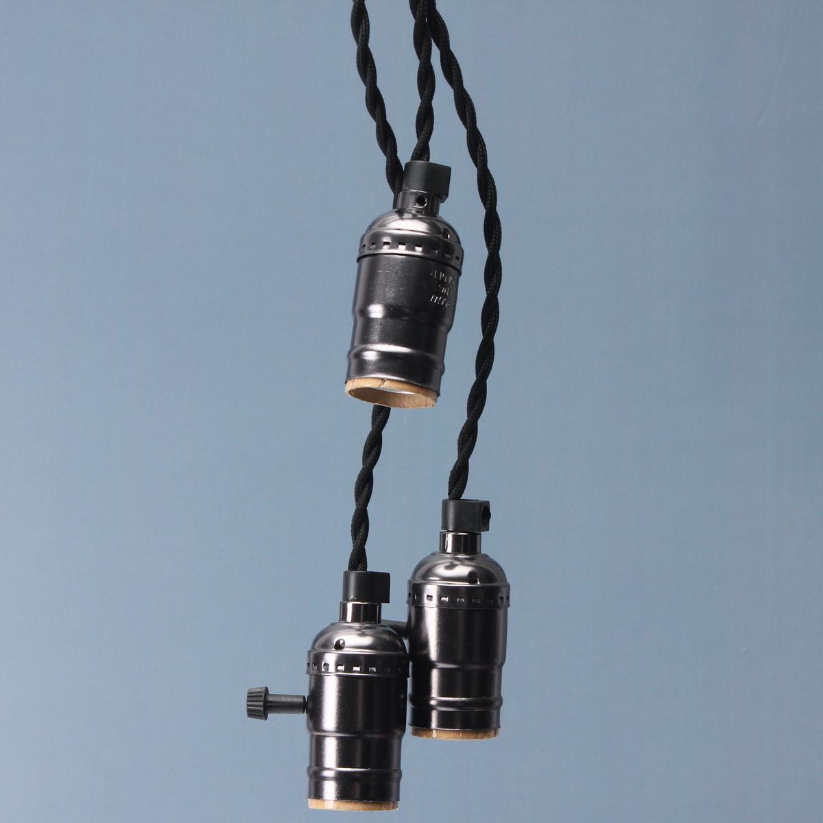 Kingso E27 E26 Edison Socket Vintage-Style Pendant Light