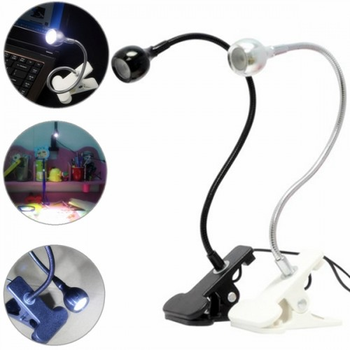 usb flexible reading led clip on beside bed table light. Black Bedroom Furniture Sets. Home Design Ideas