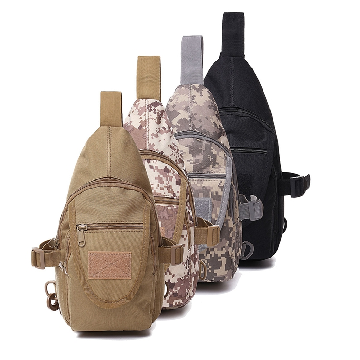 mens tactical shoulder bag backpack sling chest bag