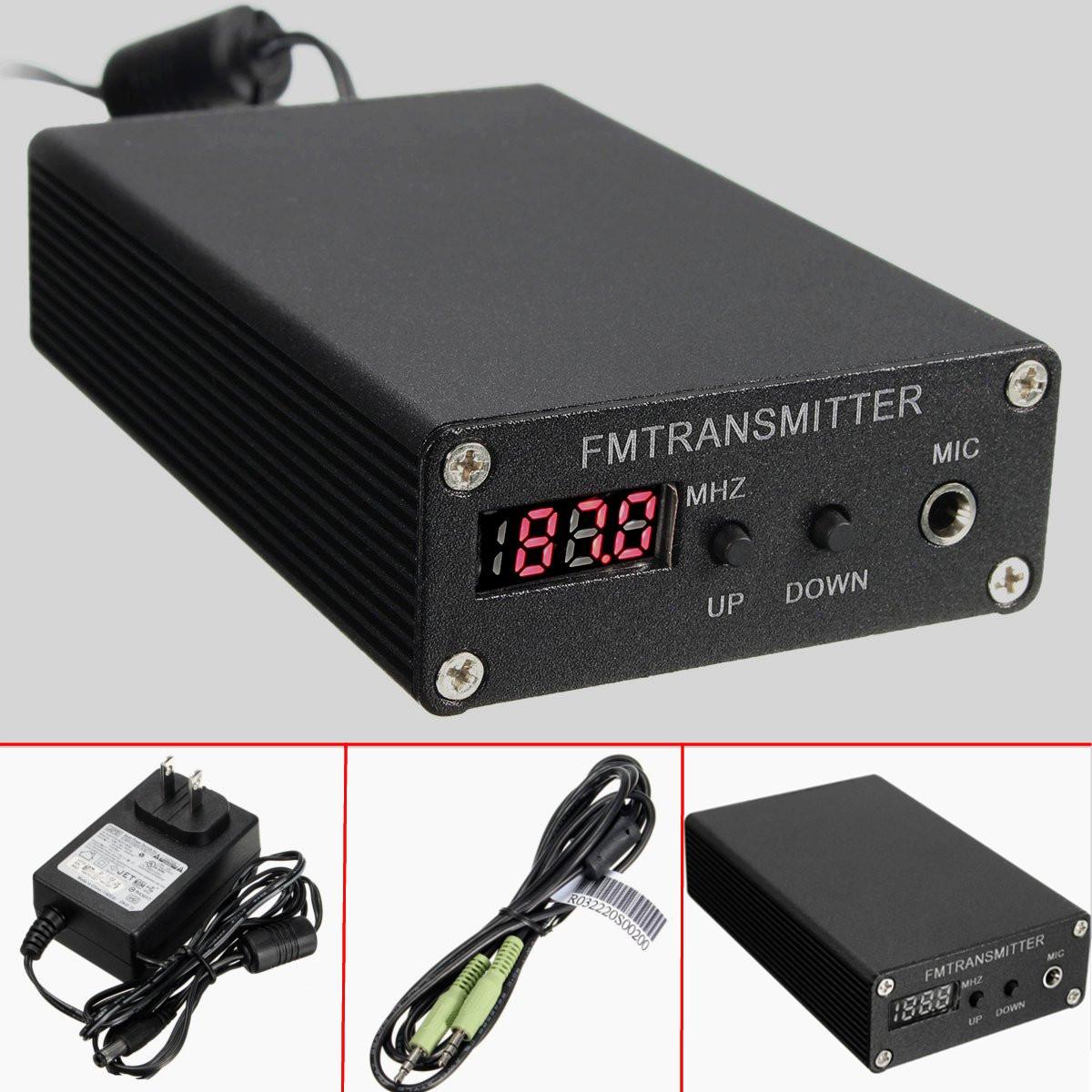 Seriøst 5W Stereo Digital FM Transmitter FM Radio Transmitter Mini FM PN82