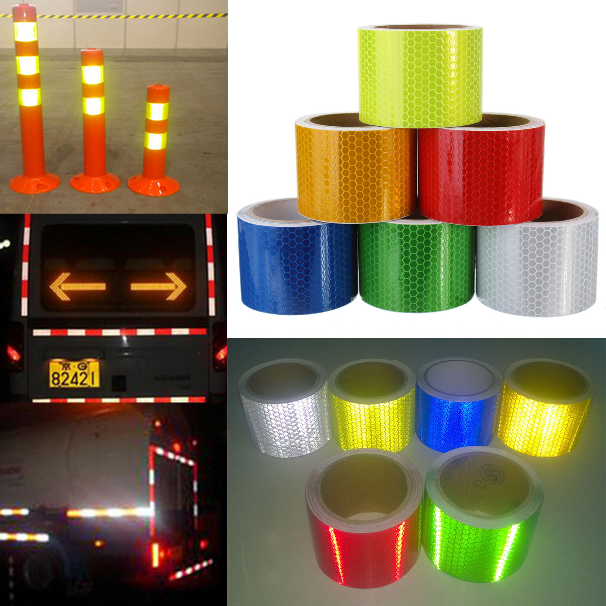 5cm 215 3m Safety Caution Reflective Tape Warning Tape Sticker