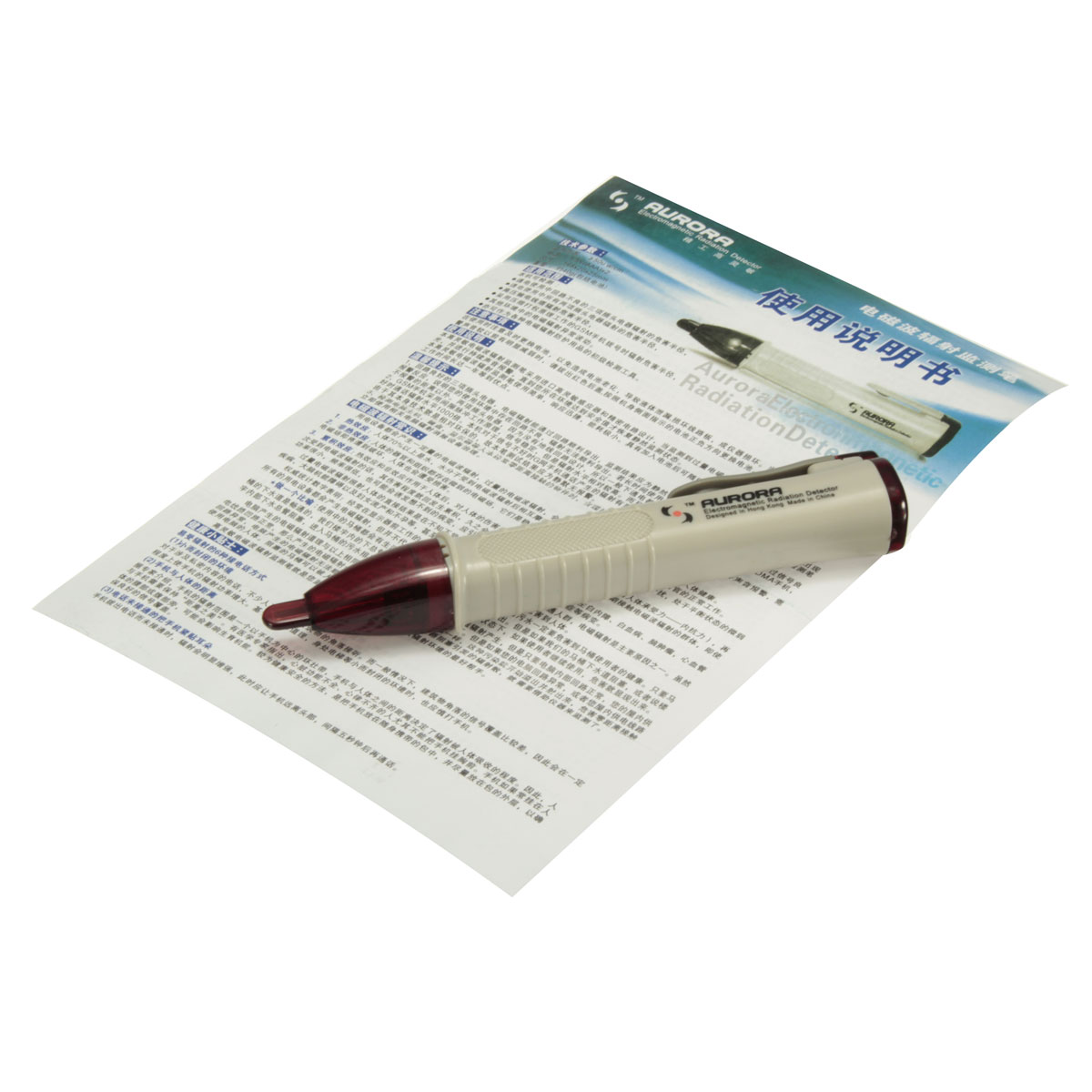 Noncontact High Sensitive Pen Shaped Electromagnetic Radiation Detector Tester