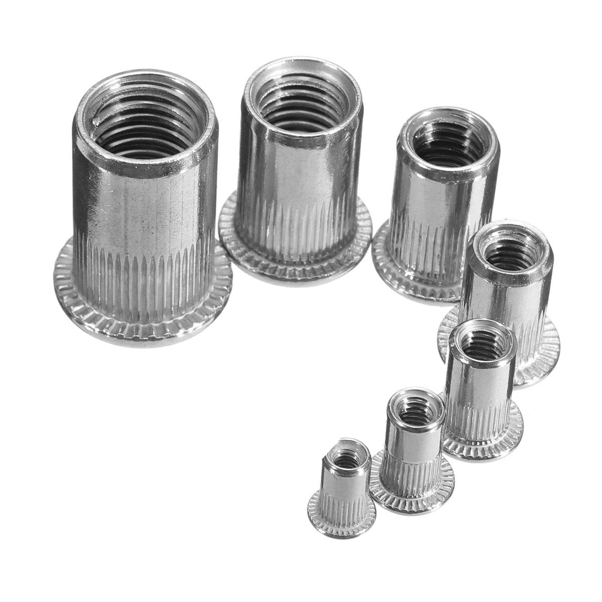 Pcs slilver threaded steel rivnuts blindnuts nutserts