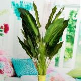 50cm Lifelike Leaves Evergreen Artificial Plant Simulation Flowers Bush Potted Flower Home Decor
