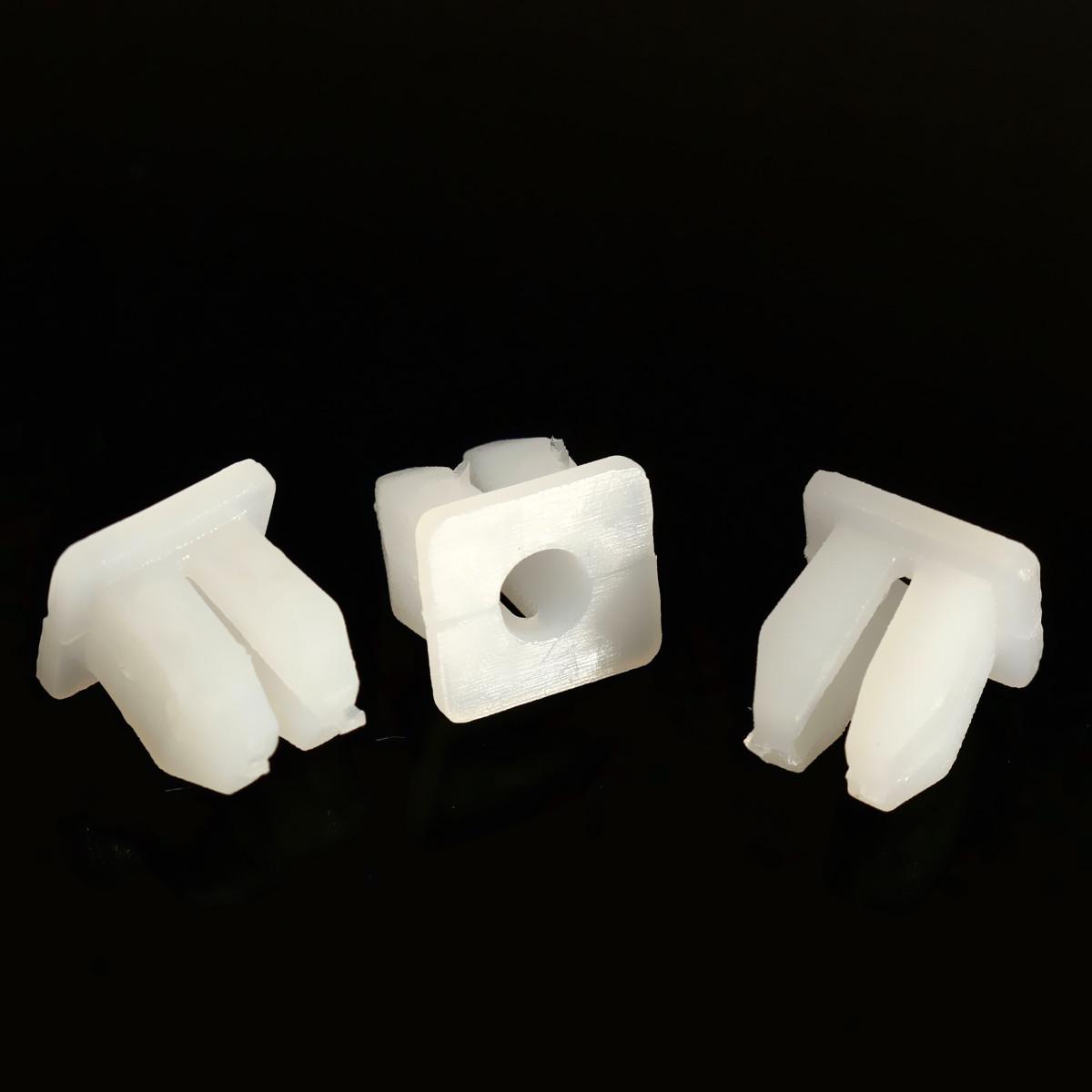 100 pcs Car White Plastic Rivets Fastener Fender Bumper Clips 5mm Hole