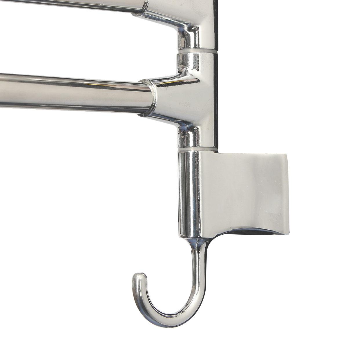 Bathroom Kitchen Wall Mounted Rotating Towel Rack Storage Hold