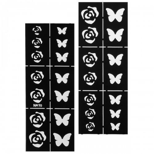 Nail Art Stencils Designs Vinyl Diecut Stickers Decal Decoration Tool