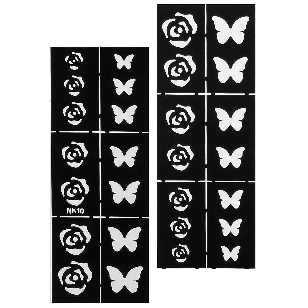 nail art stencils designs vinyl diecut stickers decal decoration tool. Black Bedroom Furniture Sets. Home Design Ideas
