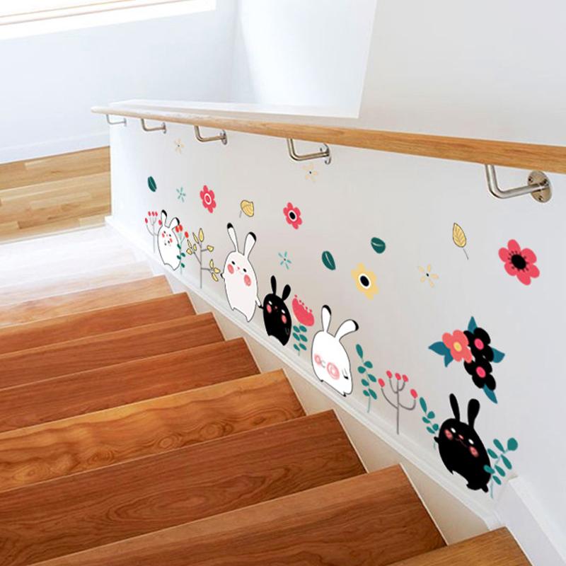 Animal Rabbit Wall Sticker Wallpaper Removable DIY Decal Home Decor ...