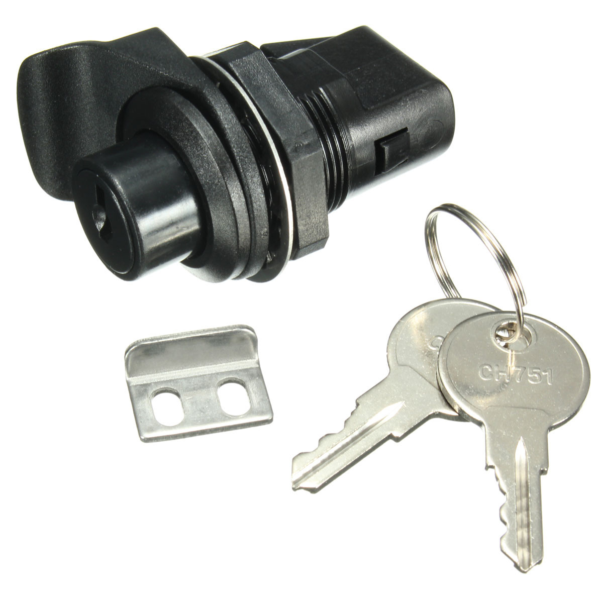 Push Button Latch With Key For Motorcycle Boat Door Gloveboxes Lock Alexnld Com