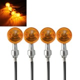 4pcs 12V Motorcycle Turn Brake Signal Light Bulb Lamp Amber Indicators