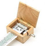 DIY Hand-cranked Music Box Wooden Box With Hole Puncher And Paper Tapes