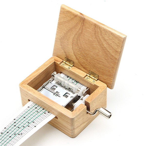 DIY Hand-cranked Music Box Wooden Box With Hole Puncher And Paper Tapes | Alex NLD