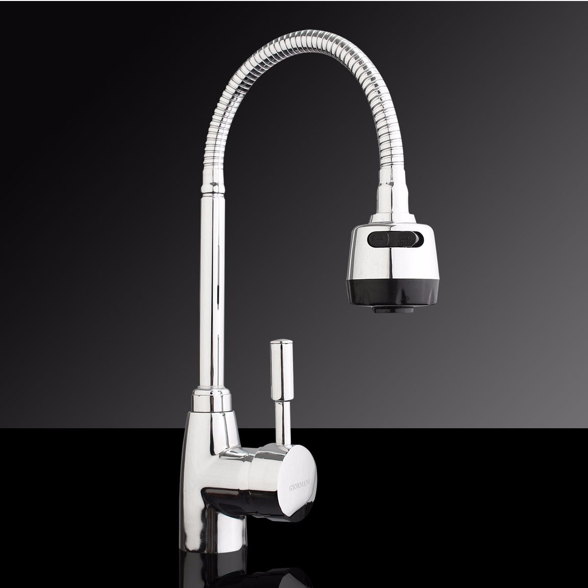 Kitchen Faucet Solid Brass Pull Swivel Tap Flexible Hot Cold Taps ...