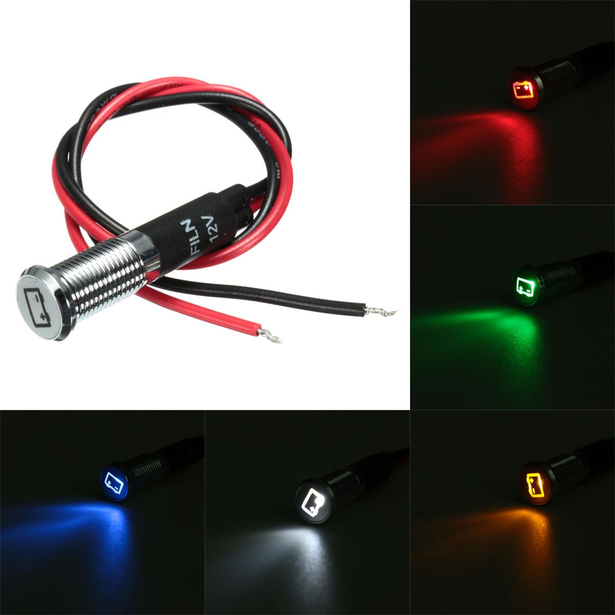 8mm 12v led dash panel indicator light car van boat. Black Bedroom Furniture Sets. Home Design Ideas