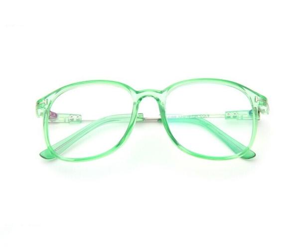 Eyeglass Green Frame : Retro Full Frame Optical Glasses (Transparent green ...