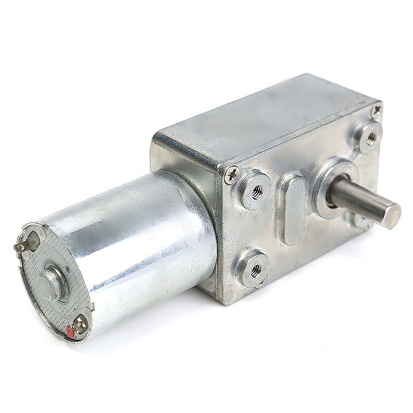 Reversible high torque turbo worm gear motor jgy370 dc 12v for Worm gear drive motor