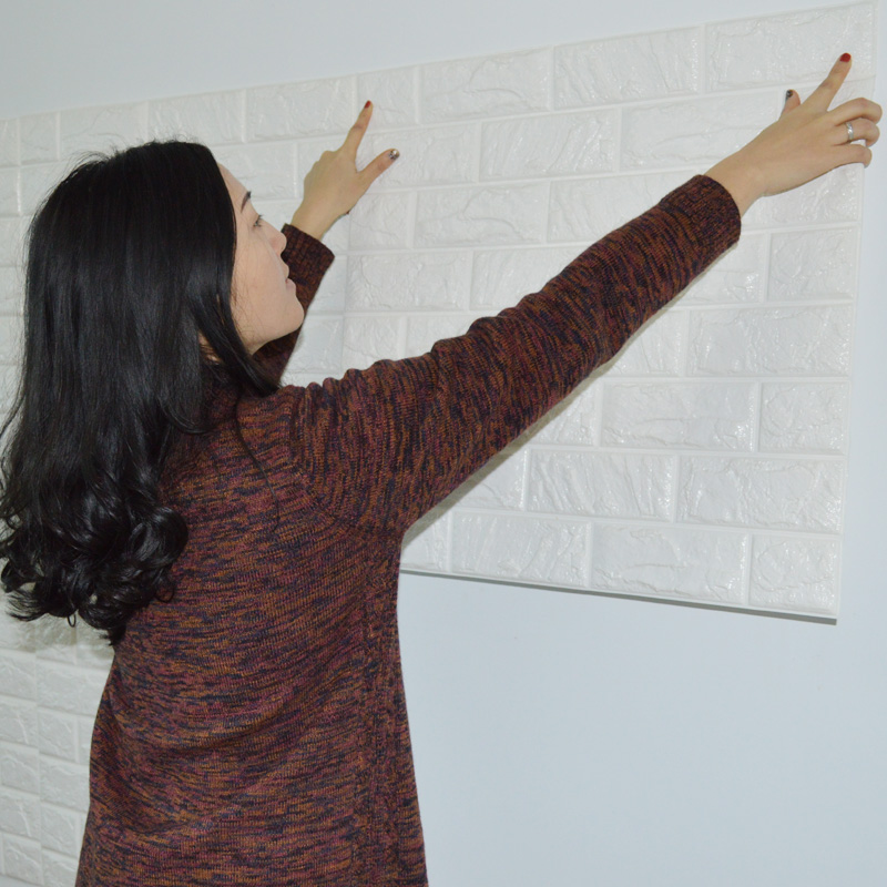 Stick On Soundproofing For Walls : Pcs d elasticity brick grain wallpaper wall stickers diy