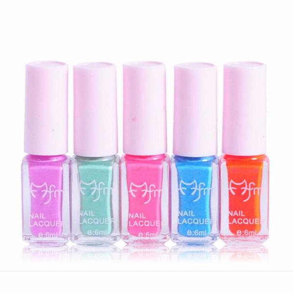 5Pcs Nail Polish Lacquer Set Multi-color Gradient Summer Color Varnish