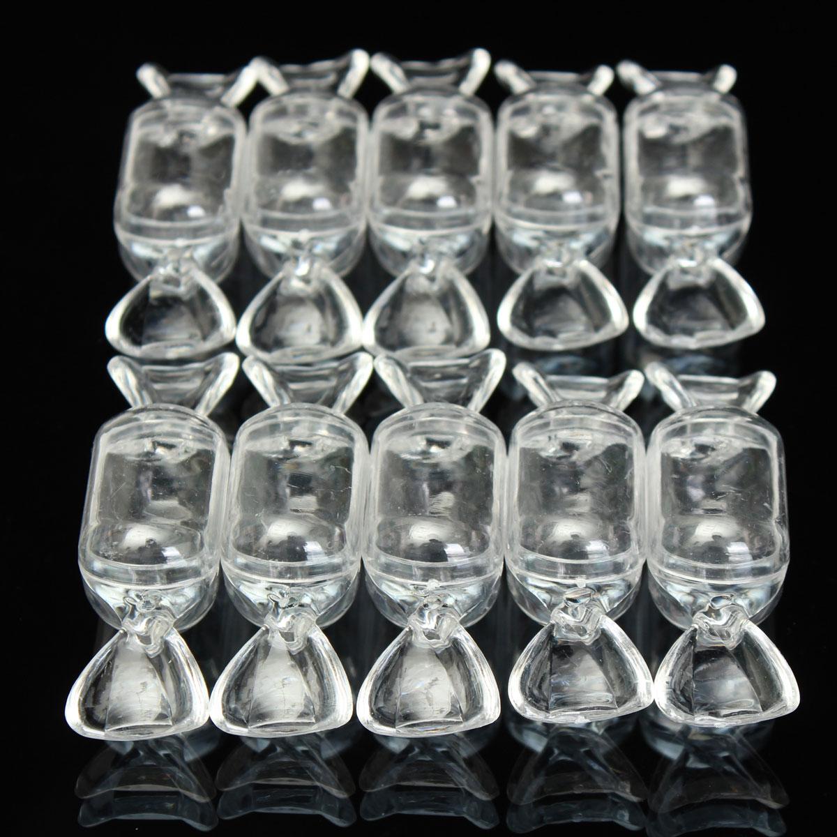 10 Pcs Transparent White Plastic Candy Boxes Wedding Favors Sweets ...