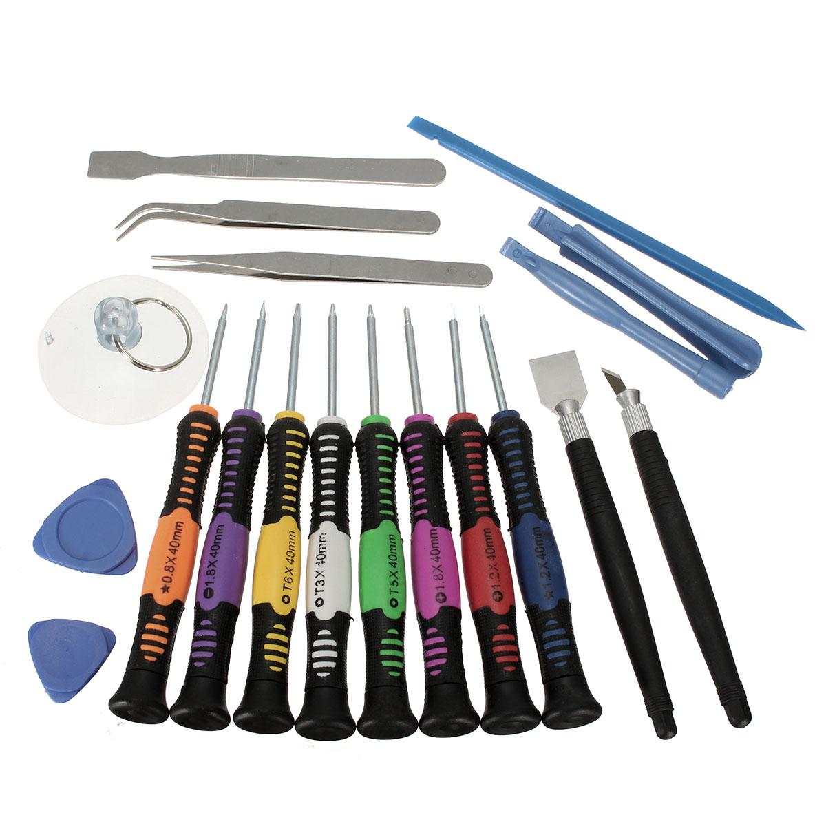 19 in 1 screwdriver set mobile phone repair tool kit for iphone 6s plus 5 4 ipad htc alex nld. Black Bedroom Furniture Sets. Home Design Ideas