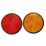 2 inch Round Reflectors Universal For Motorcycles ATV Bikes Dirt Bikes