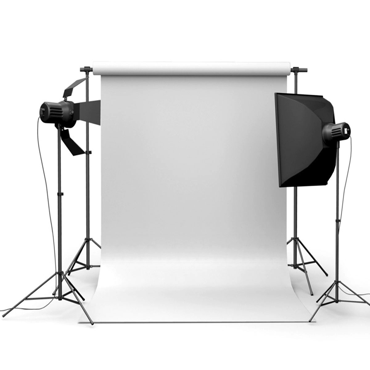 90x150cm 3x5ft white vinyl studio photography backdrop props