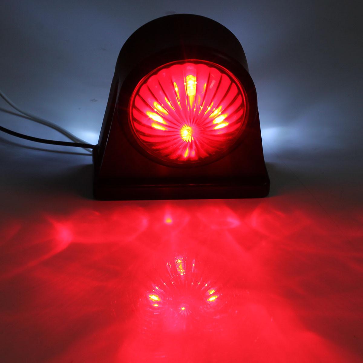 Red Truck Lamp : V e marked truck trailer lorry caravan side led light