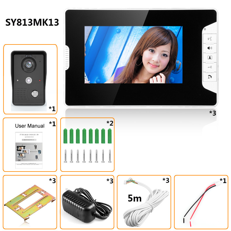 ... 7bf97cdb-0269-3375-64bd-6bc8606733ac.jpg  sc 1 st  Alexnld.com & SYSD SY813MK13 7inch TFT LCD Video Door Phone Doorbell Intercom Kit ...
