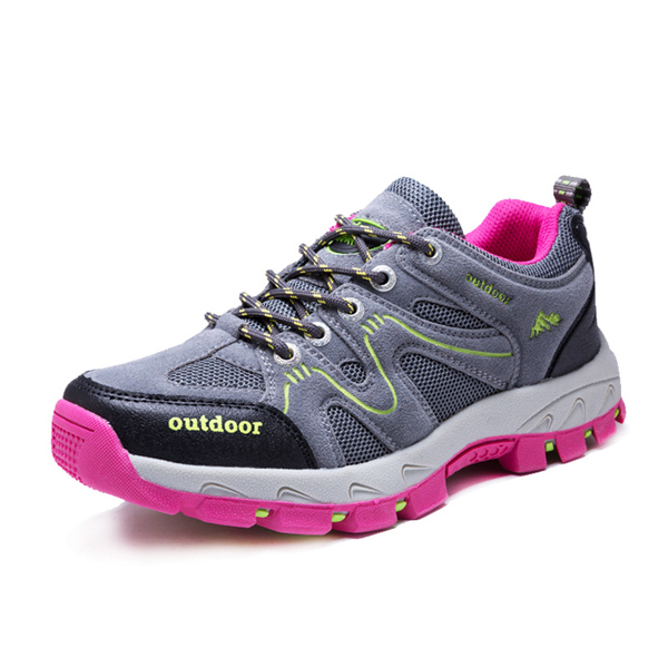 Unisex Outdoor Lace UP Athletic Shoes Breathable Hiking Shoes Mountaineering Shoes