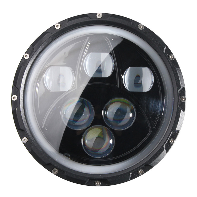 pair 7inch round 60w cree led projector headlights for