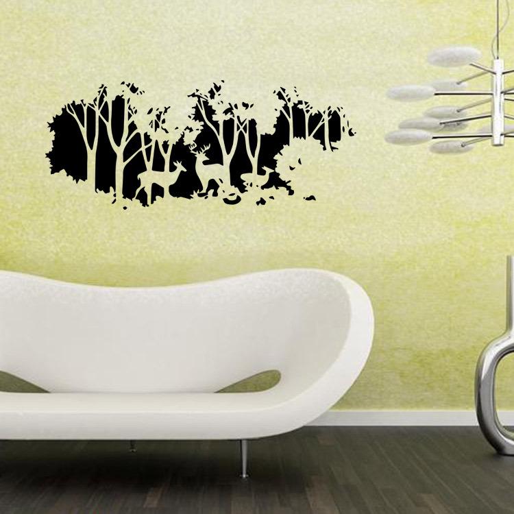 58cmx126cm Forest Fawn Deer Wall Sticker Wall Decal Home Room Wall ...