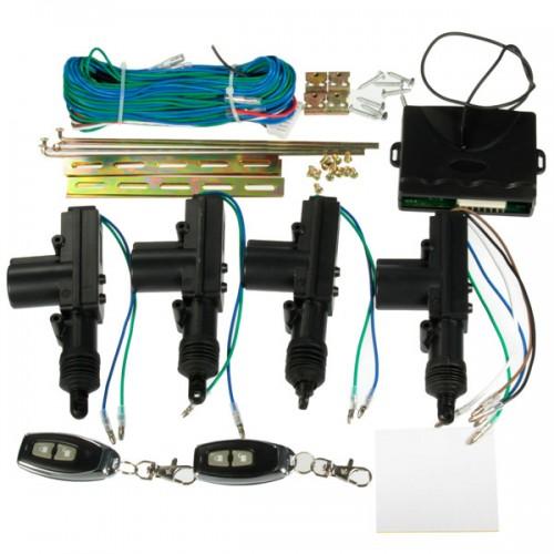 Car 2 or 4 Doors Central Lock Locking Keyless Entry System Kit & Remote Keys Fob