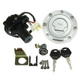 Ignition Switch Seat Lock Fuel Gas Cap Key Set For Yamaha YZF R1 R6 2001-2012