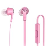 Original Xiaomi Basic Edition Piston In-Ear Stereo Bass Earphone With Remote and Mic for iPhone, iPad, iPod, Xiaomi, Samsung, Huawei and Other Android Smartphones (Pink)