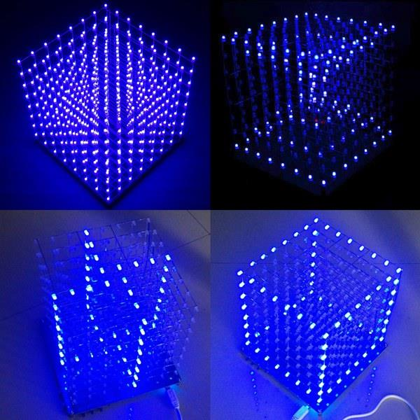 8x8x8 led cube 3d light square blue led electronic diy kit alex nld. Black Bedroom Furniture Sets. Home Design Ideas