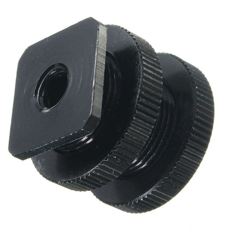 Cold Hot Boot Shoe Adapter 5/8 1/4 Inch Screw Camera Microphone Holder Mount Bracket