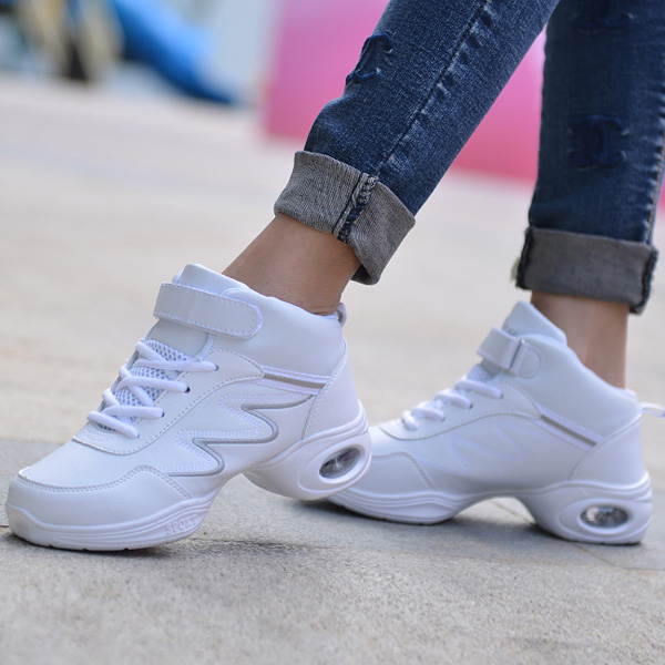 Women Casual Lace Up Dancing Shoes Soft Sole Breathable Athletic Shoes