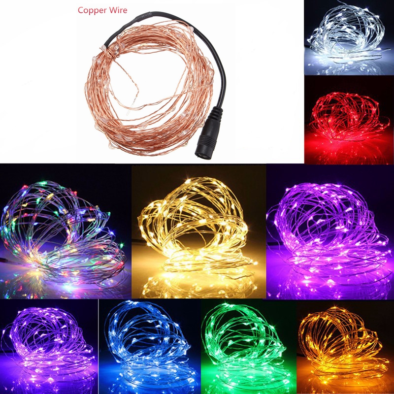 5M 50 LED Copper Wire Christmas Outdoor String Fairy Light DC12V Alex NLD