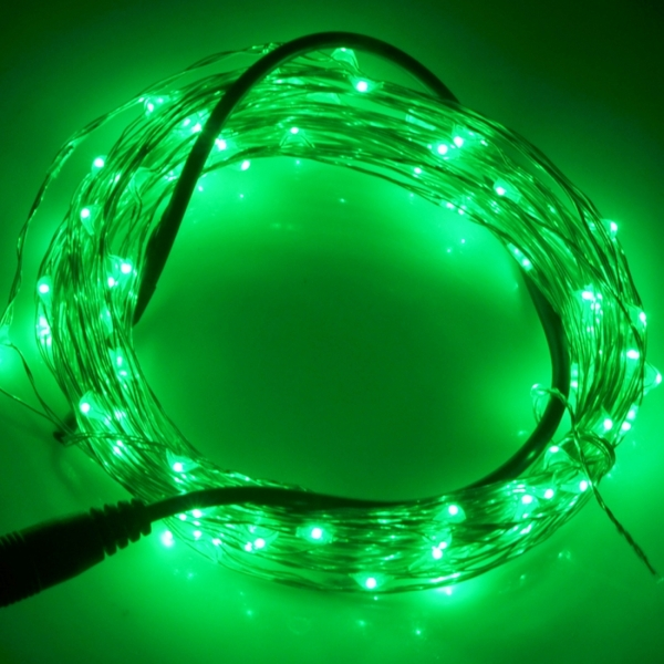 10m 12V 6W 500LM SMD-0603 LED Silver Wire String Light Festival Lamp / Decoration Light Strip ...