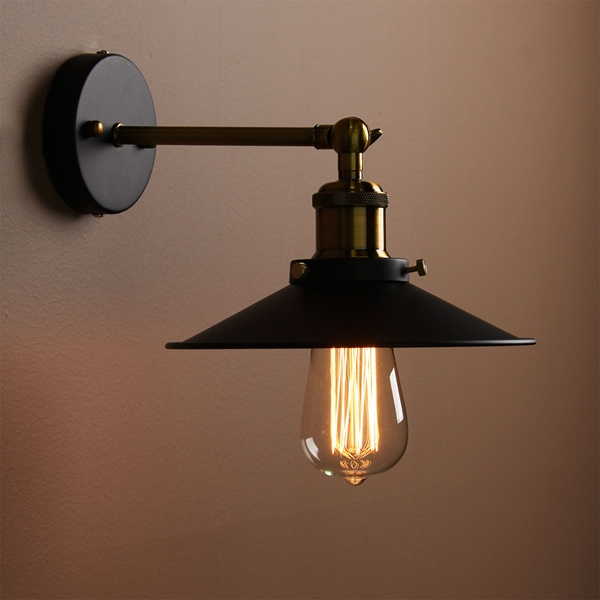 Vintage Bedroom Wall Lamps : Vintage Loft Industrial Edison E27 Wall Lamp For Bedroom Balcony Entrance Alex NLD