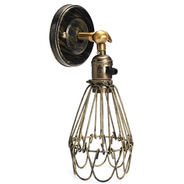 Rustic Wall Lights Nz : E27 Loft Metal Retro Vintage Rustic Sconce Wall Light Edison Lamp Bulb Fixture Alex NLD