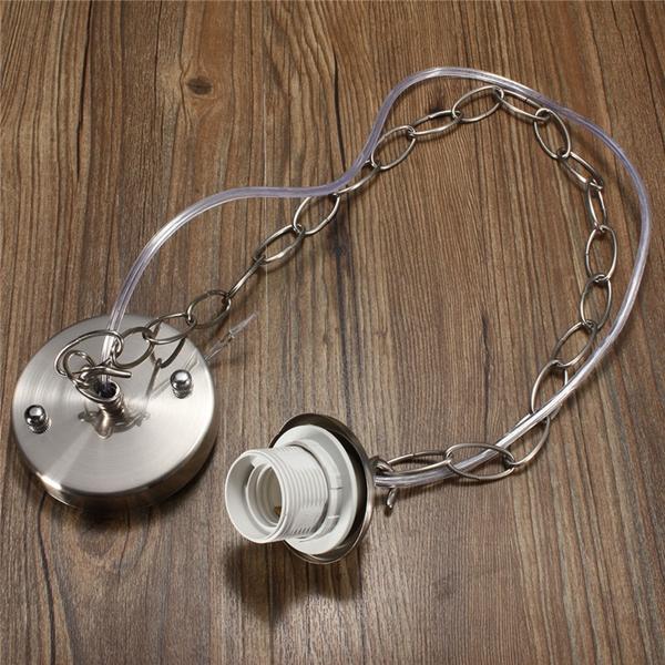 1m E27 E26 Ceiling Rose Chain Pendant Chandelier Light