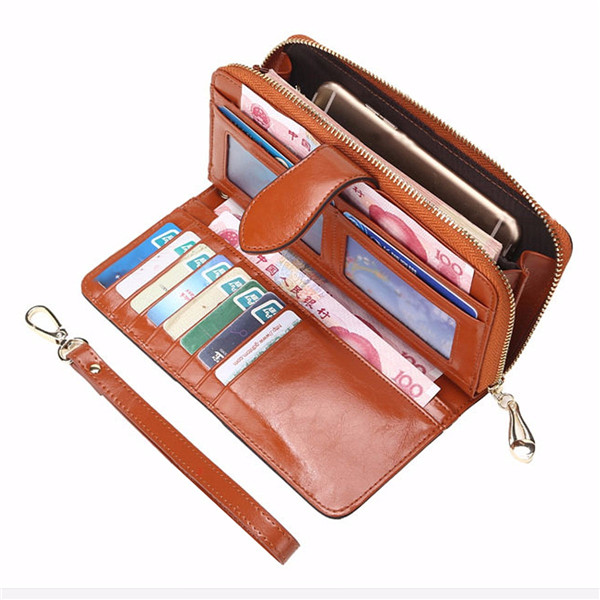 Women Long Hasp Wallet Girls Vintage Purse Card Holder ...