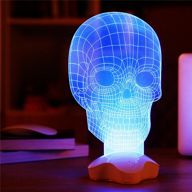 Creative Optical Illusion 3d Light Office Home Decor Gift Luminous Usb Led Desk Table Lamp