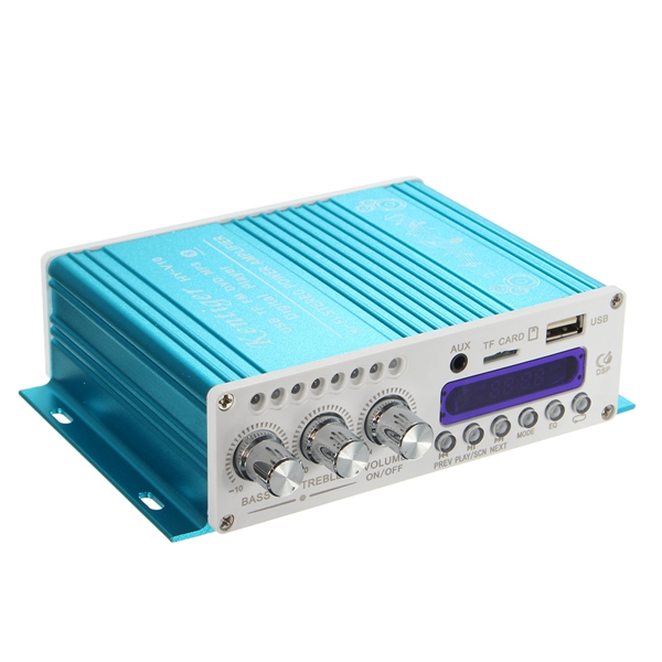 HY-V10 Bluetooth Hi-Fi Stereo Amplifier Bass Booster MP3 12V for Car Motorcycle