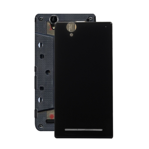 for sony xperia t2 ultra back battery cover black. Black Bedroom Furniture Sets. Home Design Ideas
