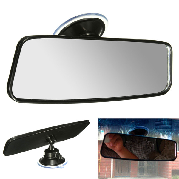 universal car van truck wide flat interior rear view mirror adjustable suction alex nld. Black Bedroom Furniture Sets. Home Design Ideas