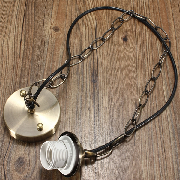 1M E27/E26 Ceiling Rose Chain Pendant Chandelier Light